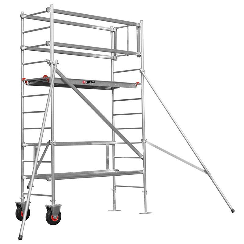 chafaudage fortal taille haie roulant en aluminium hauteur de travail 3 5m les. Black Bedroom Furniture Sets. Home Design Ideas